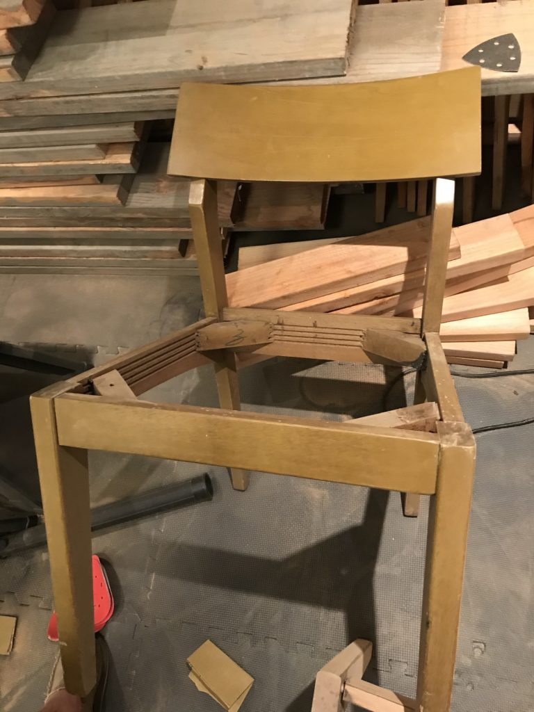 Thrift Store Chair Makeover – Part 1: Stain and Seal – Live To Sustain
