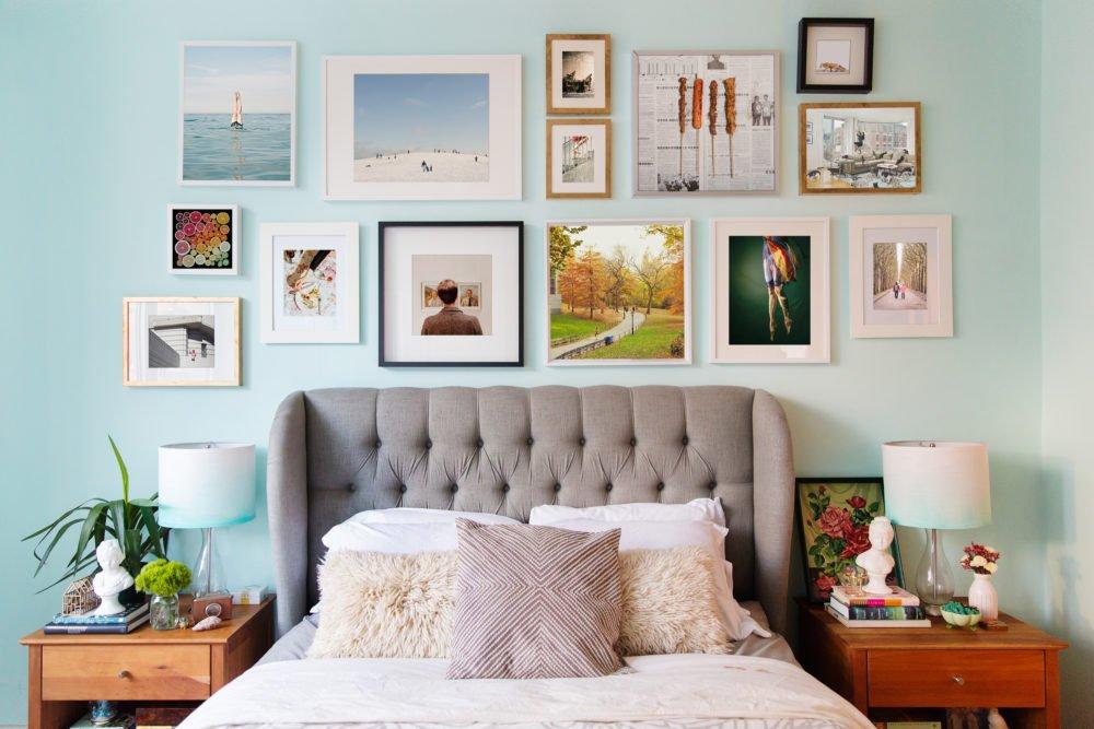 lweatherbee design studio bedroom makeover gallery wall